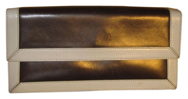 Item - Funky Brown/Light Blue Leather Clutch