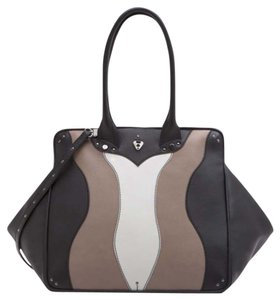 Coxy Satchel in Multicolor Black Taupe Ash