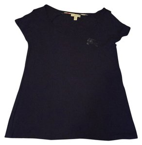 Burberry Brit Logo Equestrian T Shirt Black