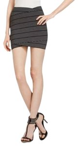 BCBGMAXAZRIA Bandage Herv Leger Mini Skirt black