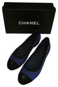 Chanel Dark blue Flats