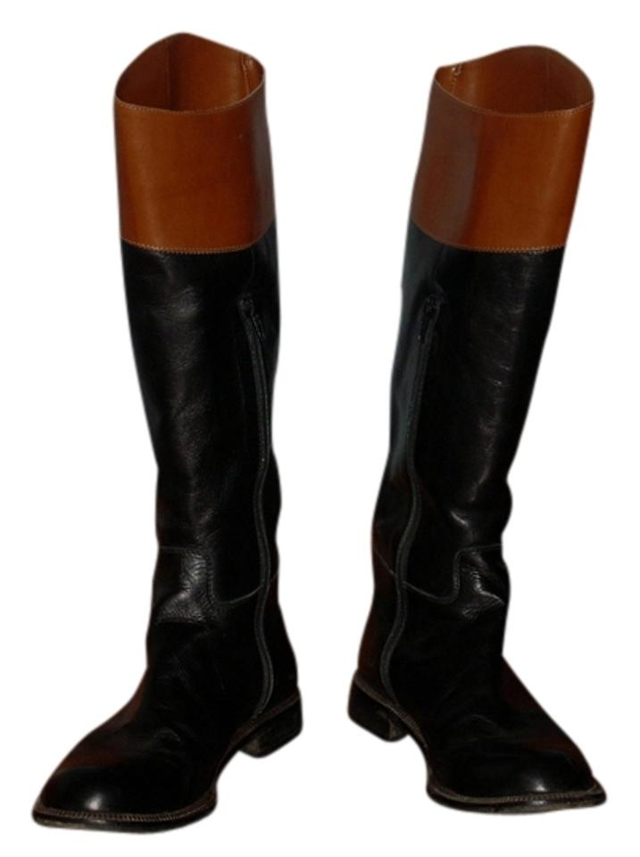 classiques entier leather boot black with brown