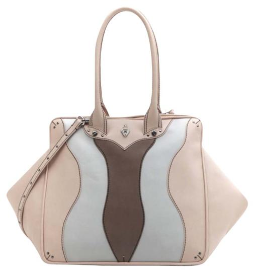 Coxy Satchel in Multicolor Nude Taupe Ash