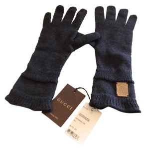 Gucci GUCCI NWT SONIO WOOL GRAY GLOVES