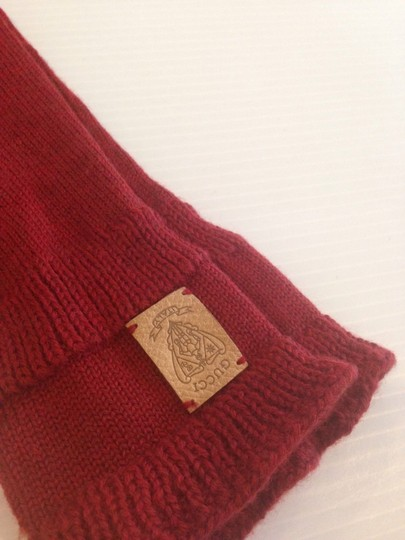 Gucci GUCCI NWT SONIO WOOL BORDEAUX GLOVES