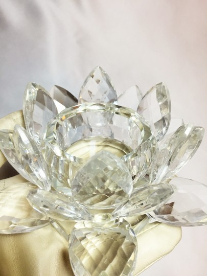 Other Tea light Candleholder; Crystal Lotus Blossom [ Roxanne Anjou Closet ]