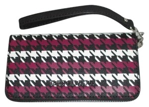 Michael Kors Wristlet in Black / White / Deep Pink