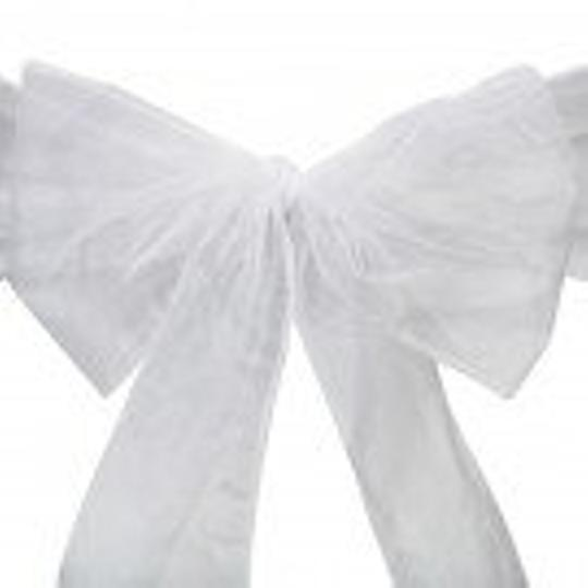 White 80 Folding Chair Covers with Sashes