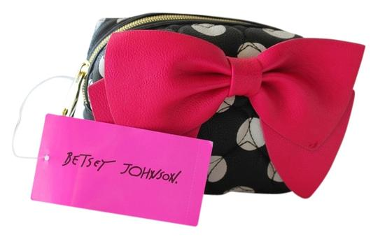 Preload https://item4.tradesy.com/images/betsey-johnson-pink-black-and-white-cosmetic-bag-5259643-0-0.jpg?width=440&height=440