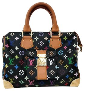 Louis Vuitton Satchel in Multicolore Noir