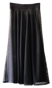 DKNY Mesh Bottom Full Skirt Black