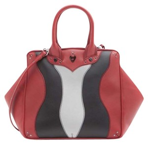 Coxy Satchel in Multicolor Red Black Ash