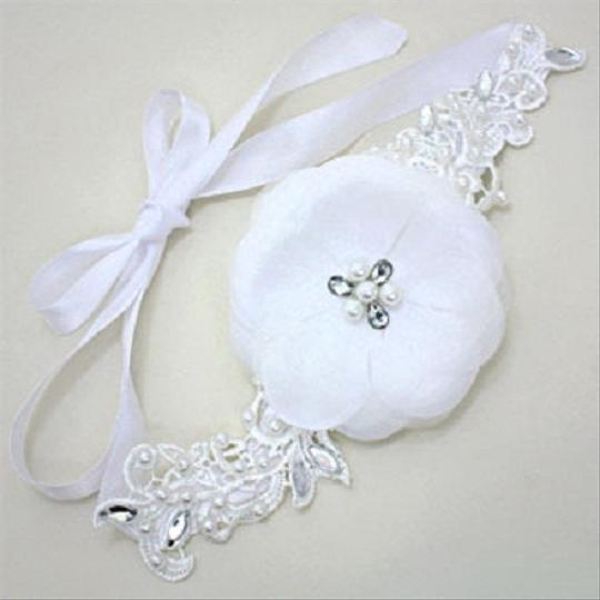 White and Clear Floral Pearl Crystal Lace Headband Hair Accessories
