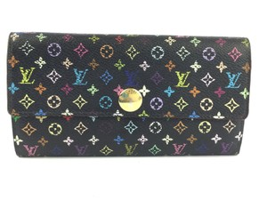 Louis Vuitton Louis Vuitton Multicolor Sarah Snap Continental Flap Murakami Wallet