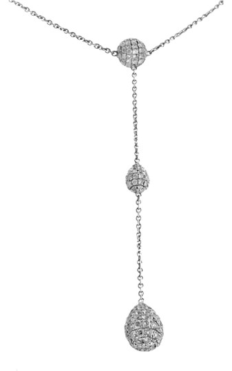 Other Ladies White Gold Diamond Ball Necklace