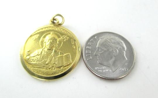 Other 18K SOLID YELLOW GOLD PENDANT CEFALU IL DUOMO JESUS NO SCRAP MEDAL 5.6 GRAMS