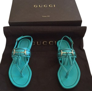 Gucci Aqua/blue/green Sandals