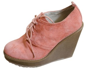 Cooperative Uo Orange Suede Wedges