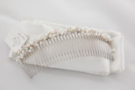 New Princess Veils Margot Beaded Hair Comb Tiara Pearls And Clear Beads
