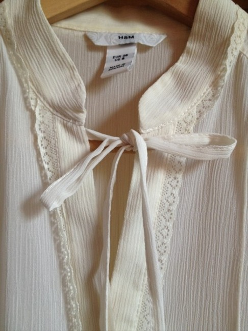 H&M Bohemian Top White/cream
