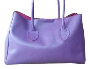 Furla Leather Saffianio Satchel in Purple