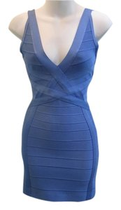 Hervé Leger short dress Sky Blue on Tradesy