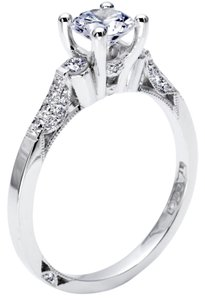 Tacori Tacori 18k White Gold Semi Mount Engagement Ring # 2590 RD Size 6.5