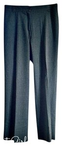 Piazza Sempione Italian Trousers Wool Straight Pants charcoal gray