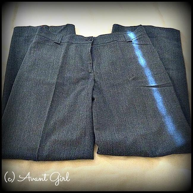Piazza Sempione Italian Trousers Gray Wool Straight Pants charcoal gray