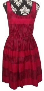 Max and Cleo short dress Cherry and Black Fall Modest Comfortable on Tradesy