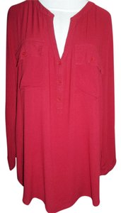 Lucky Brand 3/4 Sleeve Top Cherry Red