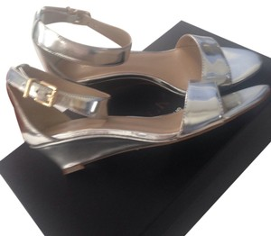 Saks Fifth Avenue Casual Evening silver Wedges