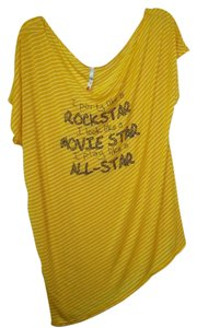 Reckless Hearts New W/ Out Tags T Shirt Yellow