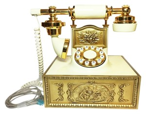 Other Vintage Cradle Telephone (Fully Operational) ; French-Styled Cradle Telephone (Circa 1970) [ Roxanne Anjou Closet ]