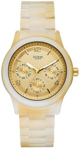 Guess Guess Women Horn Acrylic Bracelet Watch U15073L2