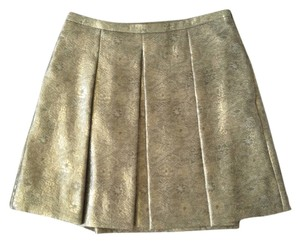Club Monaco Brocade Skirt Gold