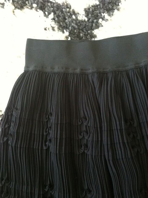 Reiss Pleated Skirt Black