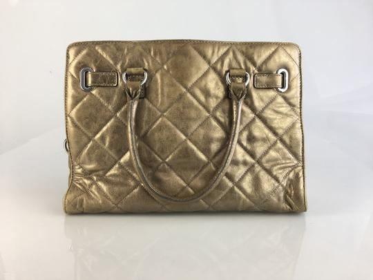 Michael Kors Satchel in Bronze Metallic