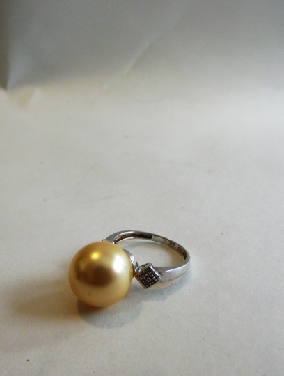 Pearlfection Pearlfection .925 Faux Golden South Sea Pearl Ring Size 8
