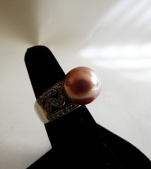 Pearlfection Pearlfection .925 Mauve Faux South Sea Pearl Ring