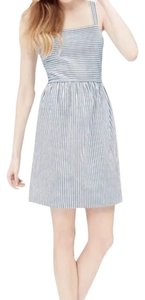 Ann Taylor LOFT short dress Grey Blue White on Tradesy