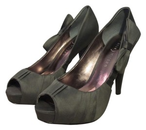 Paris Hilton Satin Grey Gray Regal Pump Grey, Silver Pumps