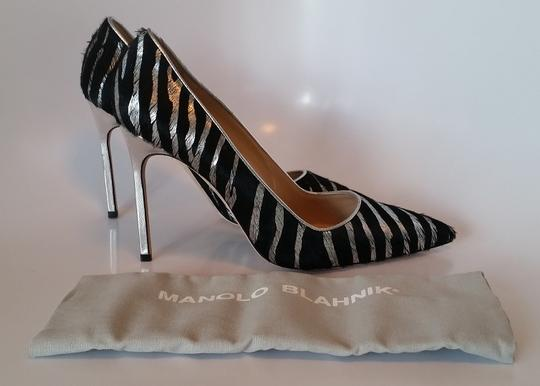Manolo Blahnik Black/Silver Pumps