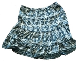 Max Studio Skirt Blue, Green, White