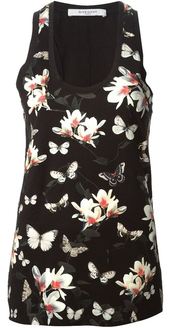 Preload https://item4.tradesy.com/images/givenchy-blackmulti-magnolia-floral-butterfly-print-xs-tank-topcami-size-0-xs-5263633-0-0.jpg?width=400&height=650