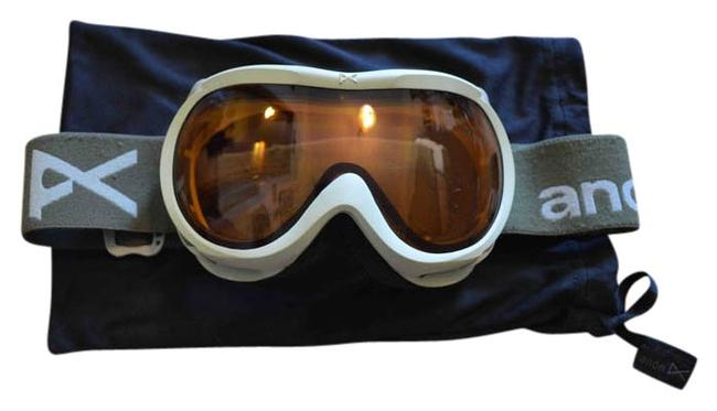 Item - Olive & Mint Green Anon Women's Snowboard Goggles Tech Accessory