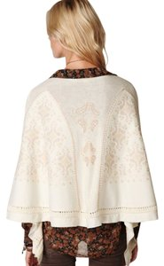 Free People Wool Embroidered Beaded Cape