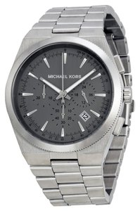 Michael Kors BRAND NEW MENS MICHAEL KORS (MK8337) SILVER CHRONOGRAPH CHANNING GRAY DIAL WATCH