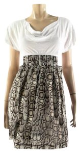 Rachel Roy short dress Neutral Open Back Sheath Mini Sexy Animal Print on Tradesy