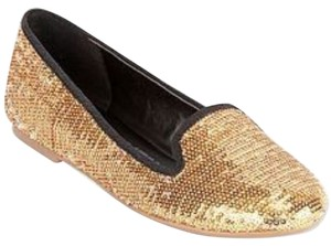 Cosmopolitan Gold Sequin with Black Trim Flats